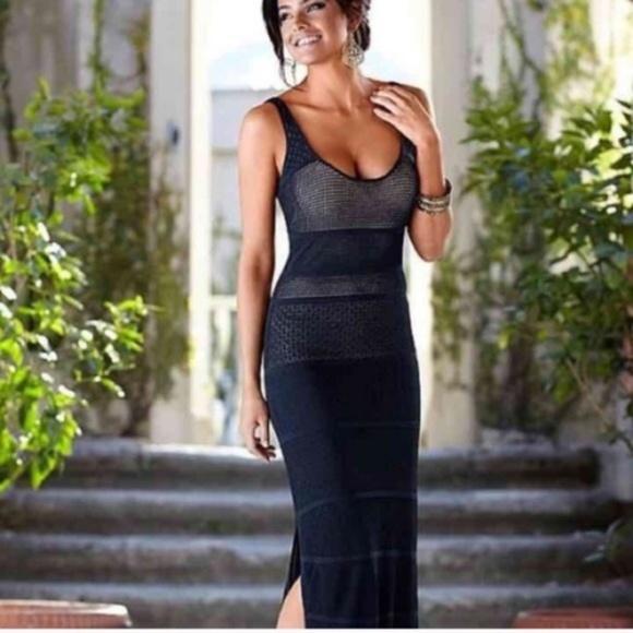 0ef426f7b3 VENUS Dresses | Nwot Navy Crochet Maxi Dress Size Xl | Poshmark